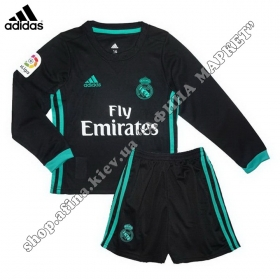 Форма Реал Мадрид длинный рукав для детей выездная 2018 Adidas