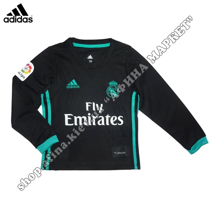 Детская футбольная форма Реал Мадрид с длинным рукавом 2018 выездная XXL