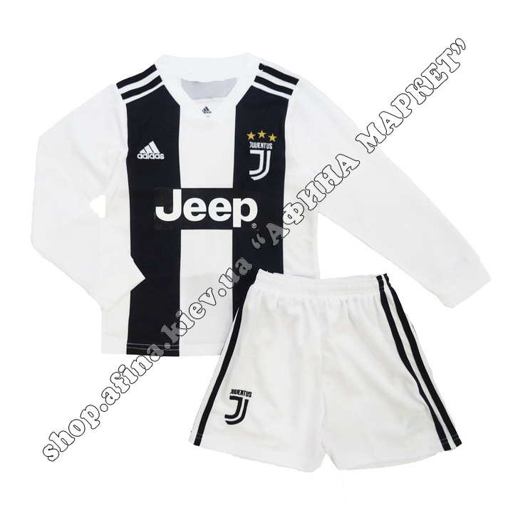 Форма Ювентуса 18-19 детская домашняя Adidas с длинным рукавом L