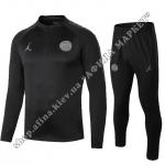 Футбольный костюм для детей ПСЖ Air Jordan Black 2019