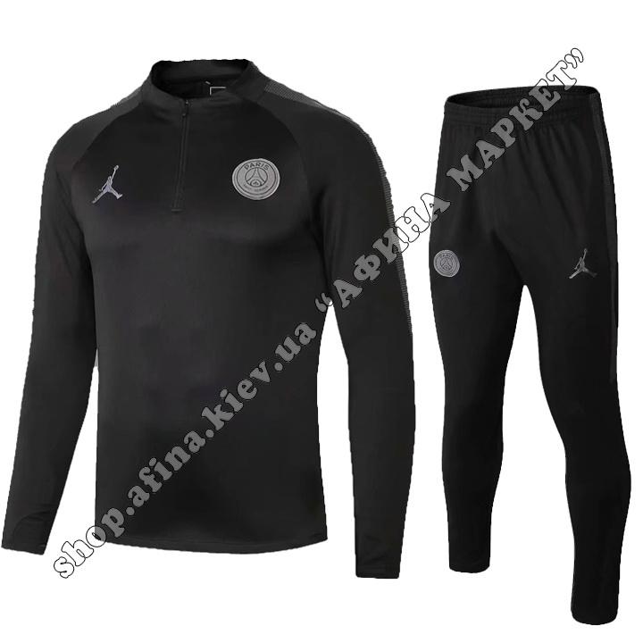Детский тренировочный костюм для футбола ПСЖ Air Jordan Black 2019 р.24