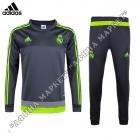 Дитячий спортивний тренувальний костюм для футболу Реал Мадрид Grey/Green Adidas р.22