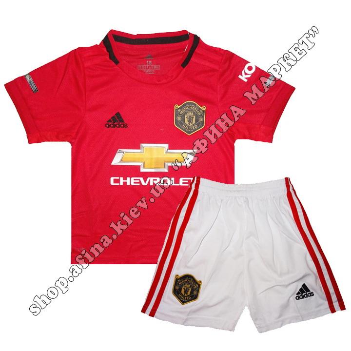 Детская футбольная форма Манчестер Юнайтед 19-20 Adidas домашняя XS