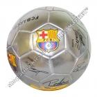 Футбольный мяч Барселона с автографами игроков Silver
