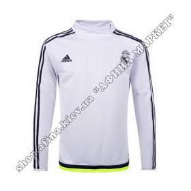 Кофта футбольна Adidas Реал Мадрид Training Sweatshirt White