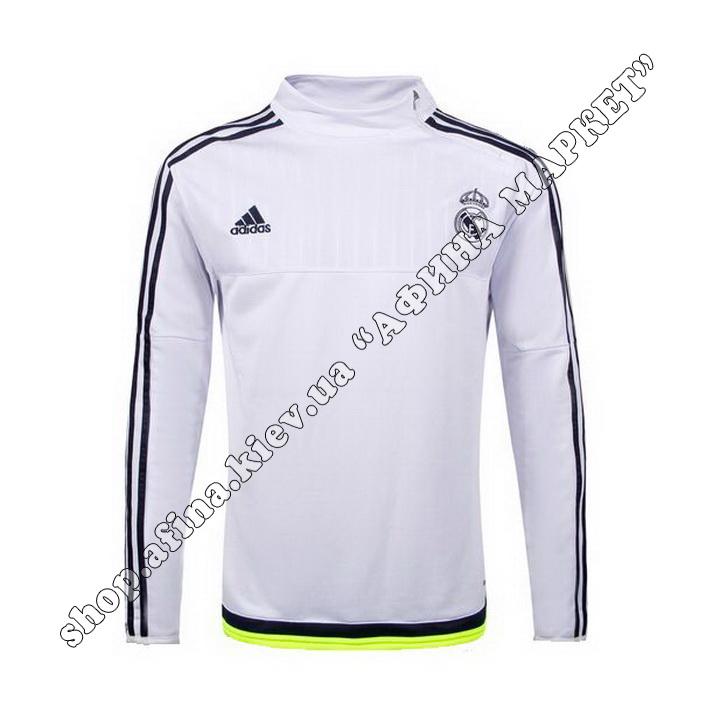 Кофта футбольная Adidas Реал Мадрид Training Sweatshirt White