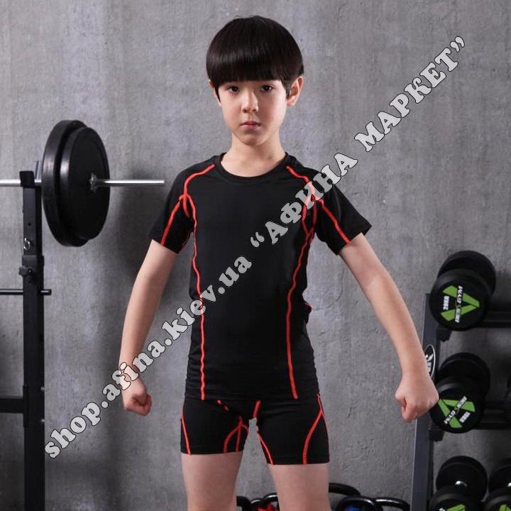 Термобілизна дитяча для футболу SPORT комплект Black  107670