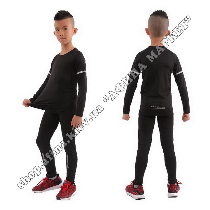 Термобілизна дитяча для футболу FENTA Black зі світловідбиваючими елементами 107534
