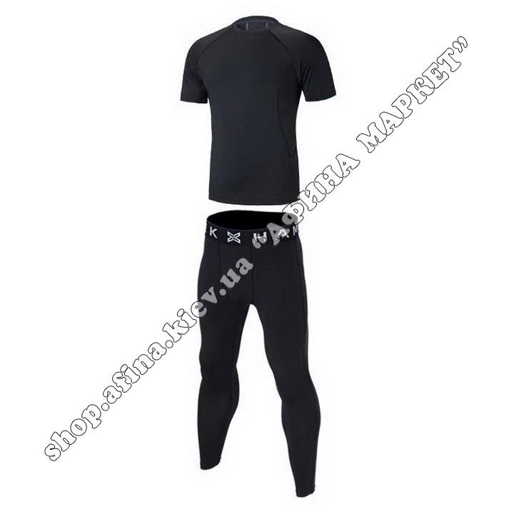 Термобілизна дитяча для футболу SPORT комплект Black  107632