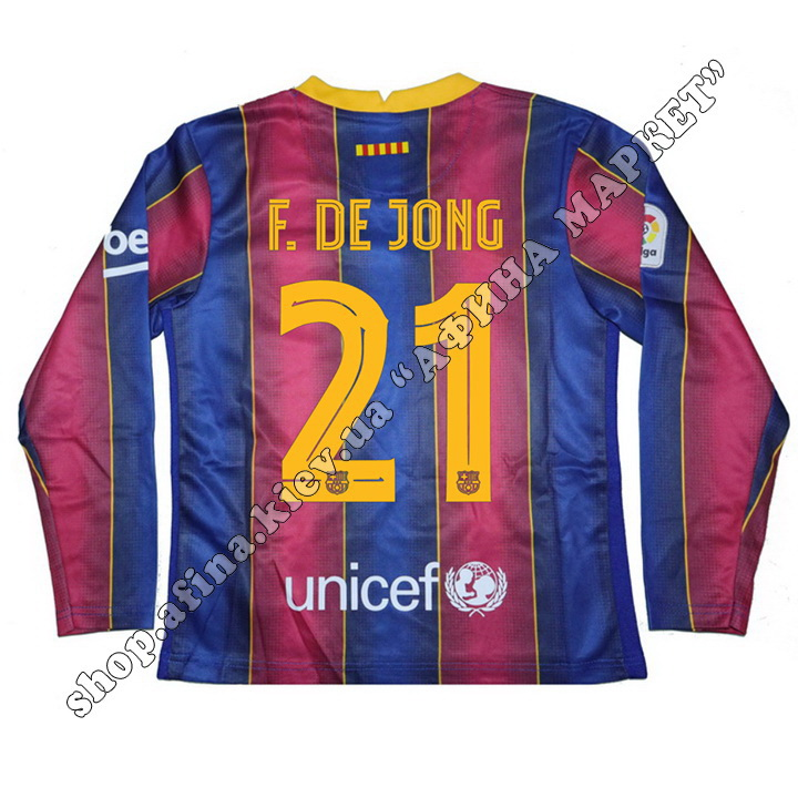 Нанесення прізвища, імені та номера на форму Барселона 2020/2021