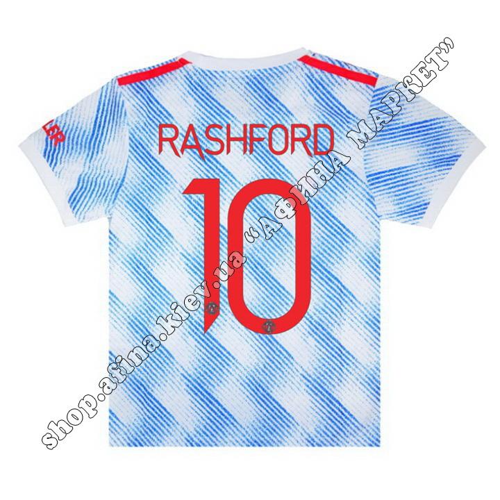Нанесення імені, прізвища, номера, Манчестер Юнайтед 2021-2022 Away