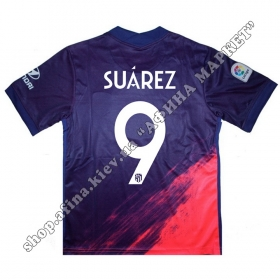 Нанесение имени, фамилии, номера на форму Атлетико Мадрид 20201-2022 Away
