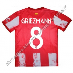 Нанесение имени, фамилии, номера на форму Атлетико Мадрид 2021-2022 Home