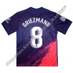 Нанесение имени, фамилии, номера на форму Атлетико Мадрид 2022 Away