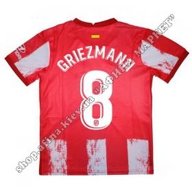 Нанесение имени, фамилии, номера на форму Атлетико Мадрид 2022 Home