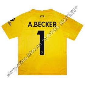 Нанесение имени, фамилии, номера на форму Ливерпуль 2021-2022 Goalkeeper
