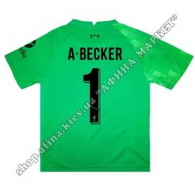 Нанесение имени, фамилии, номера на форму Ливерпуль 2021-2022 Goalkeeper Home