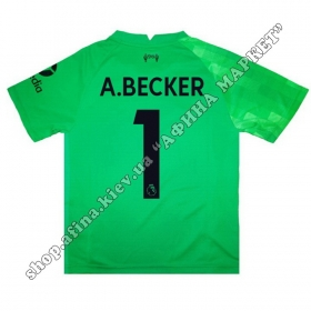 Нанесение имени, фамилии, номера на форму Ливерпуль 2022 Goalkeeper Home