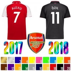 Нанесение имени, фамилии, номера, шрифт Арсенал 2017-2018 (5052)