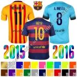 Нанесение имени, фамилии, номера, шрифт Барселона 2015-2016, флекс 1 цвет