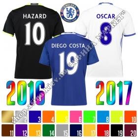 Нанесение имени, фамилии, номера, шрифт Челси 2016-2017, флекс 1 цвет