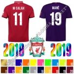 Нанесение имени, фамилии, номера, шрифт Ливерпуль 2019