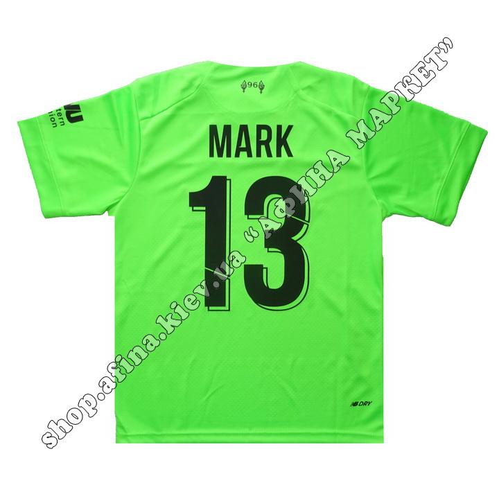 Нанесение имени, фамилии, номера, шрифт Ливерпуль 2020