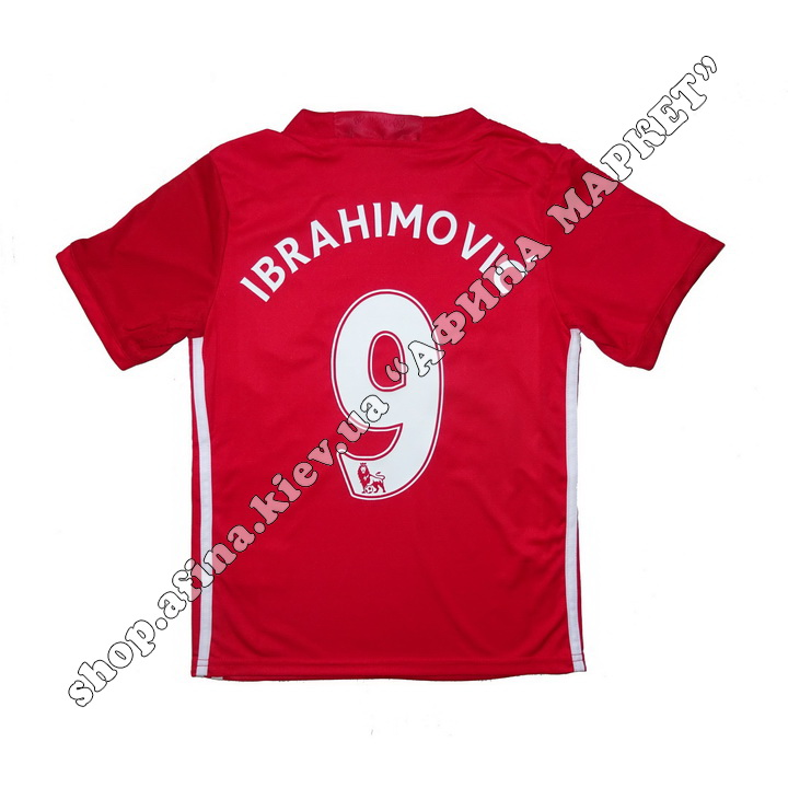 Нанесение имени, фамилии, номера, шрифт Манчестер Юнайтед 2016-2017, флекс 1 цвет (5004)