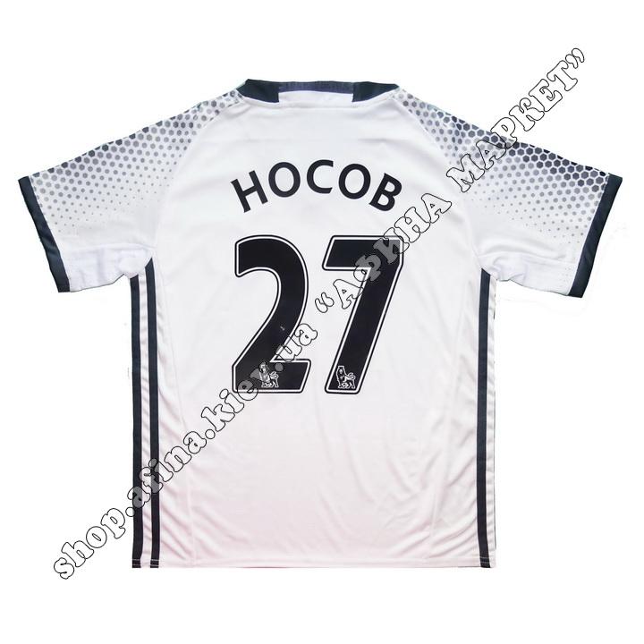 Нанесение имени, фамилии, номера, шрифт Манчестер Юнайтед 2016-2017, флекс 1 цвет