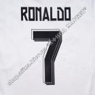 Нанесение имени, фамилии, номера, шрифт Реал Мадрид 2015-2016, флекс 1 цвет