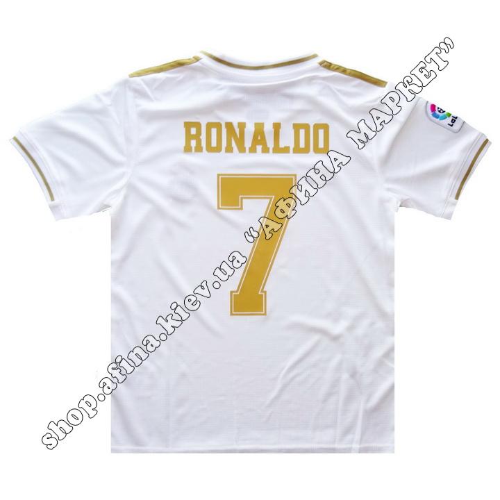 Нанесение имени, фамилии, номера, шрифт Реал Мадрид 2019-2020