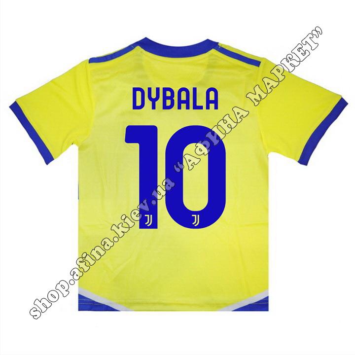 Нанесення імені, прізвища, номера, шрифт Ювентус Third 2021-2022