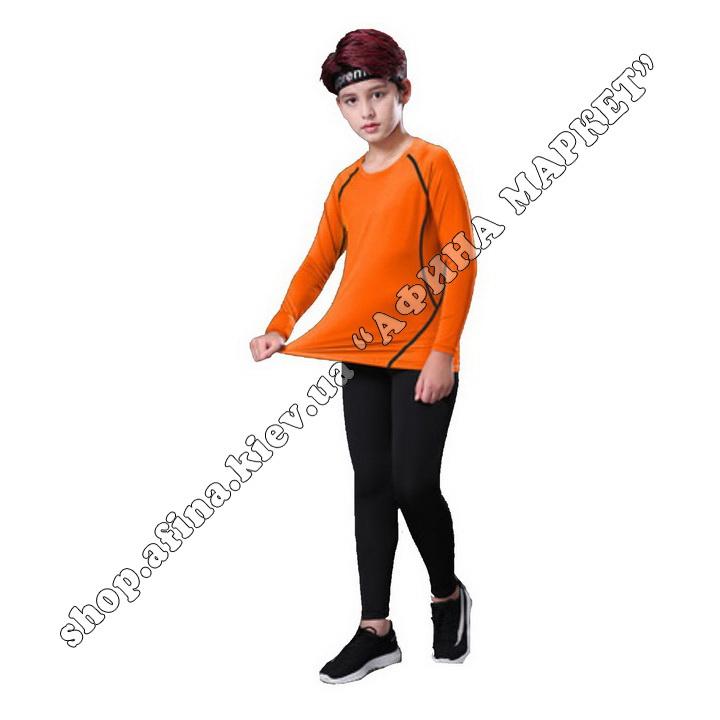 Термобілизна дитяча для футболу SENJI комплект Orange/Black  107519
