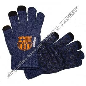 Спортивные перчатки футбольные детские Барселона 2020 Blue