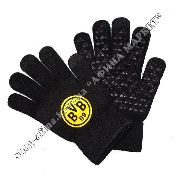Спортивные перчатки футбольные детские Боруссия Дортмунд 2020 107929
