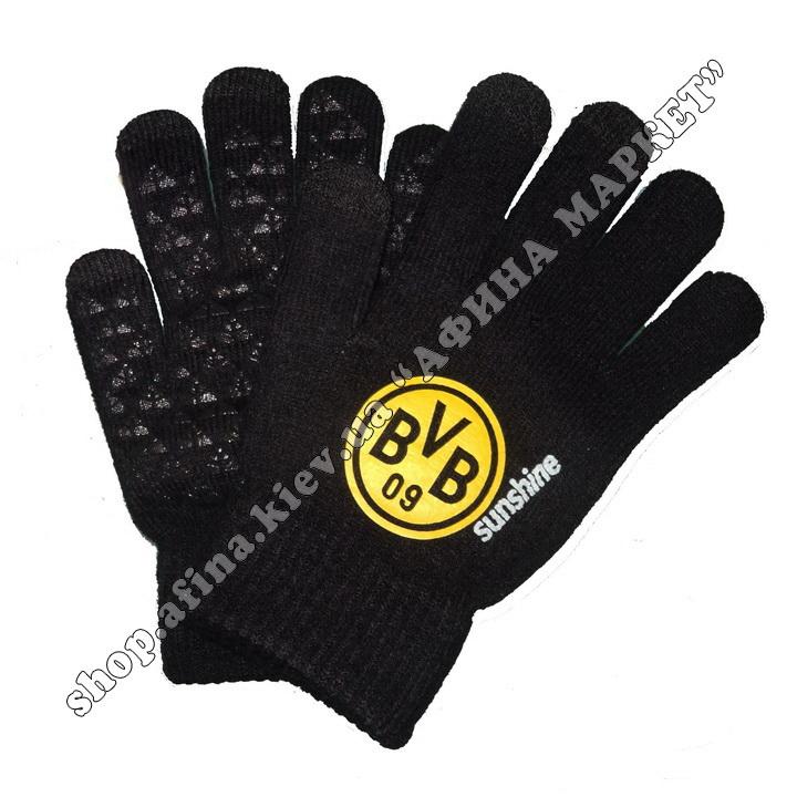 Спортивные перчатки футбольные детские Боруссия Дортмунд 2020 107930