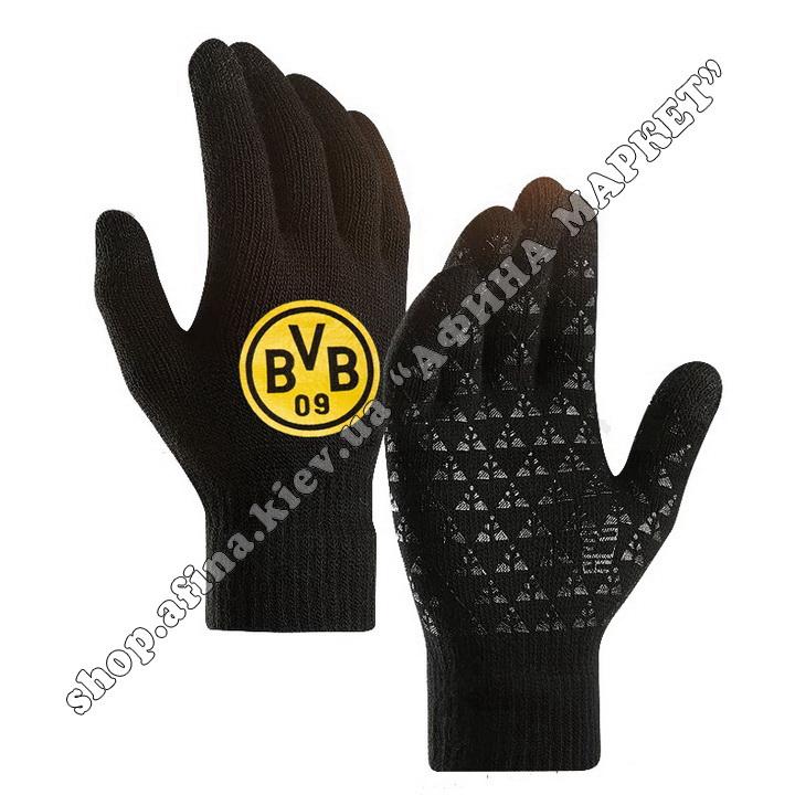 Спортивные перчатки футбольные детские Боруссия Дортмунд 2020