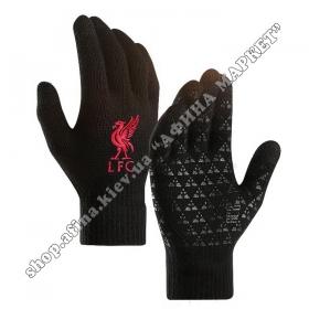 Спортивные перчатки футбольные детские Ливерпуль 2020
