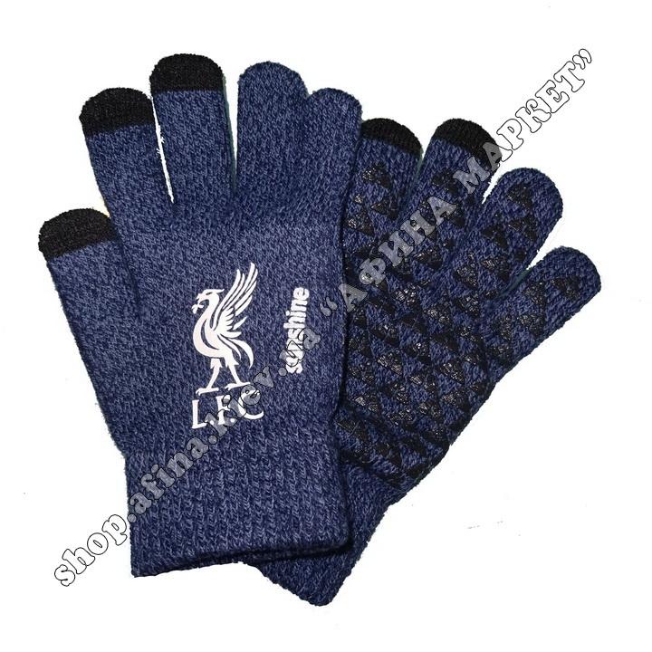 Спортивные перчатки футбольные детские Ливерпуль 2020 Blue 107947