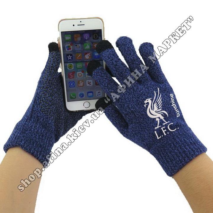 Спортивные перчатки футбольные детские Ливерпуль 2020 Blue 107945
