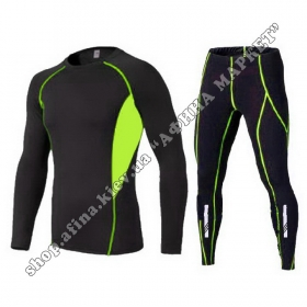 Thermal Underwear Reflective Ventilation Black/Green
