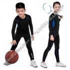 Термобілизна дитяча для футболу зі світловідбиваючими елементами Black/Blue