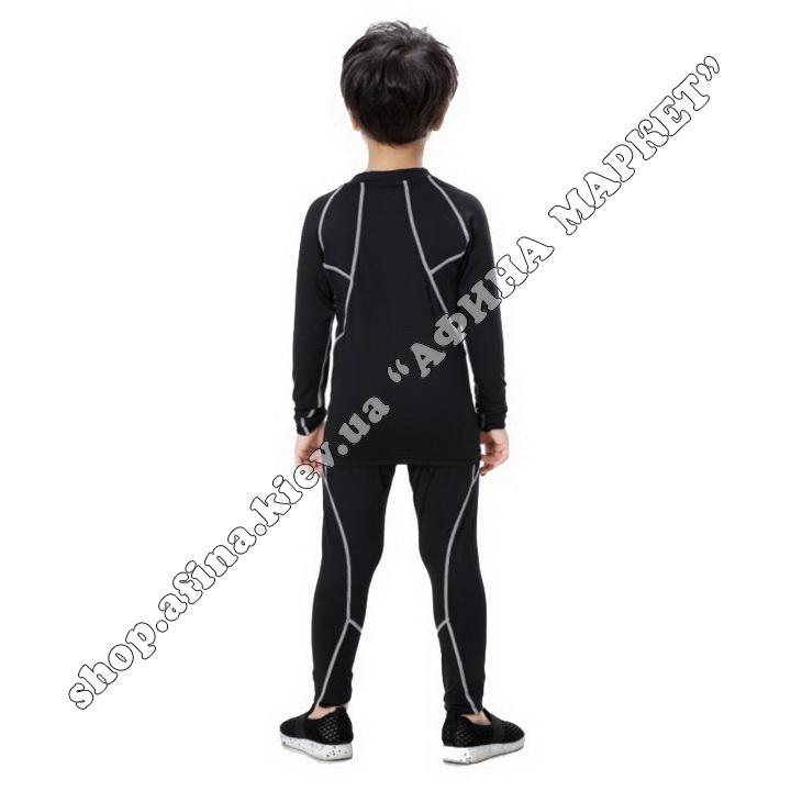 Термобілизна дитяча для футболу SPORT комплект Black/Gray 107543