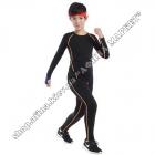 Термобілизна дитяча для футболу SPORT комплект Black/Orange