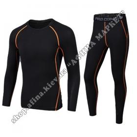 Thermal Underwear FENTA Black/Orange