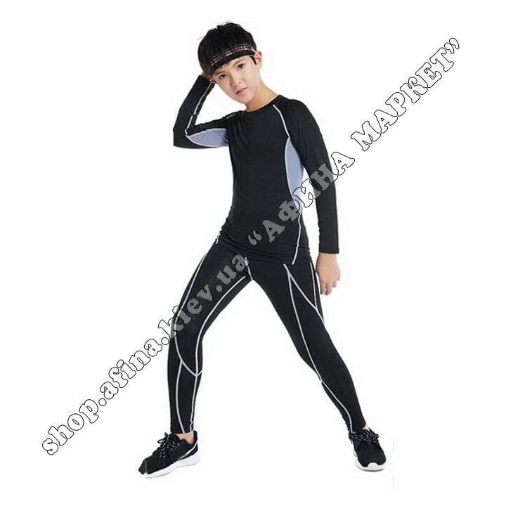 Термобілизна дитяча для футболу FENTA комплект Black/Gray