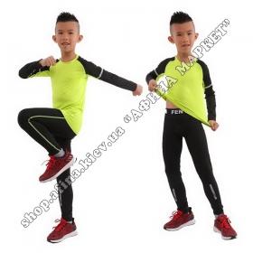 Термобілизна дитяча для футболу FENTA комплект Green