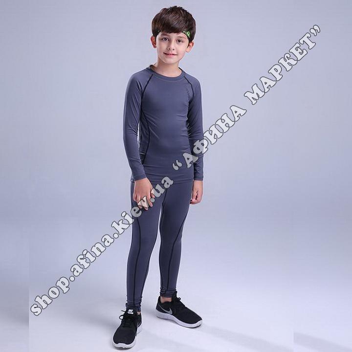 Термобілизна дитяча для футболу JINGJISHEN комплект Gray 107636