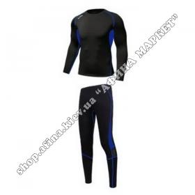 Термобілизна дитяча для футболу KYOU комплект Black/Blue