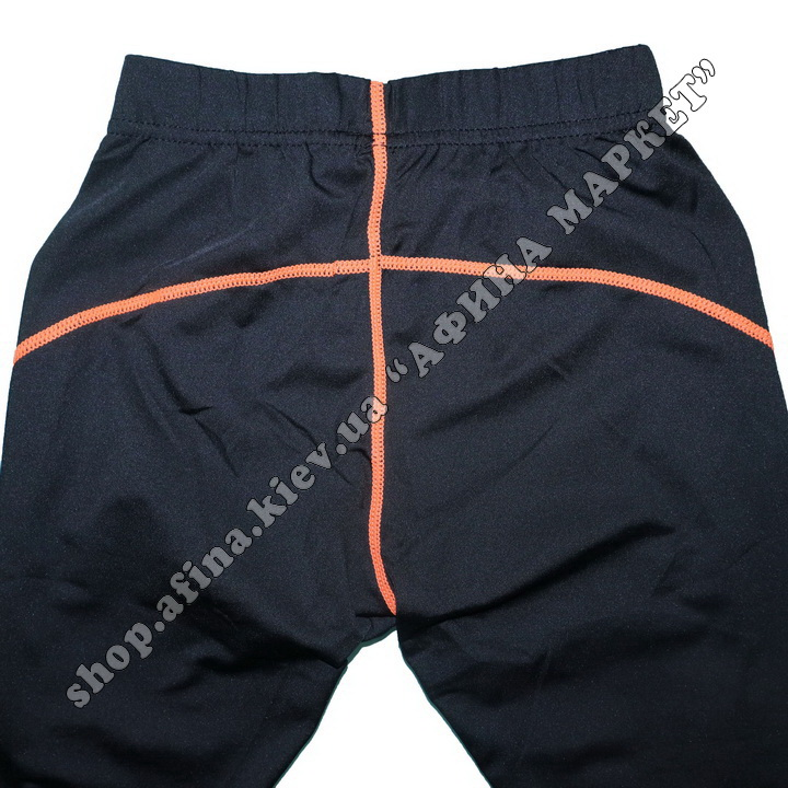Термобілизна дитяча для футболу зі світловідбиваючими елементами Black/Orange  107508